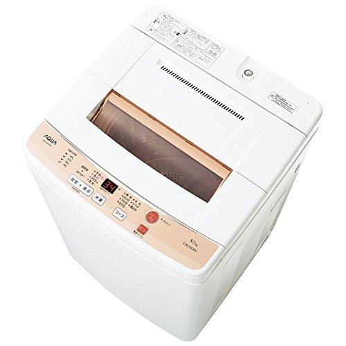 アクア 5.0kg 全自動洗濯機 ホワイトAQUA AQW-S50D-W