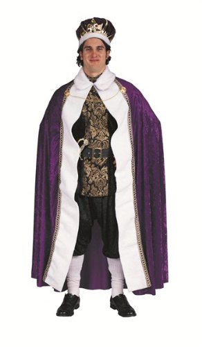 Kings Robe Panne Adult Costume