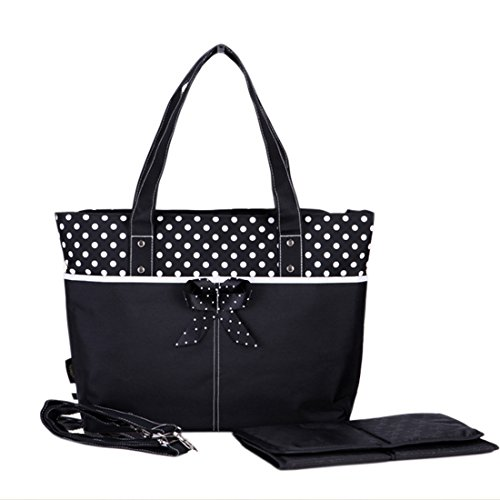 Damai Black Large Diaper Tote Bag With Changing Pad front-521879