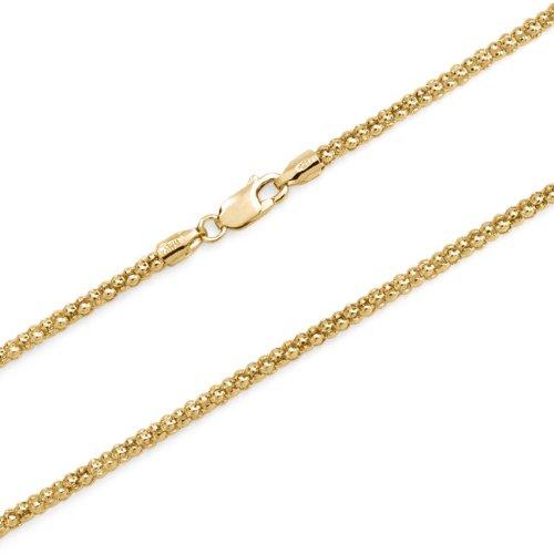 Bling Jewelry Sterling Silver 14K Gold Vermeil Coreana Chain 030 Gauge