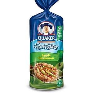 Quaker Rice Cakes Apple Cinnamon - 12 Pack(6.53 OZ ... Quaker Rice Cakes Apple Cinnamon