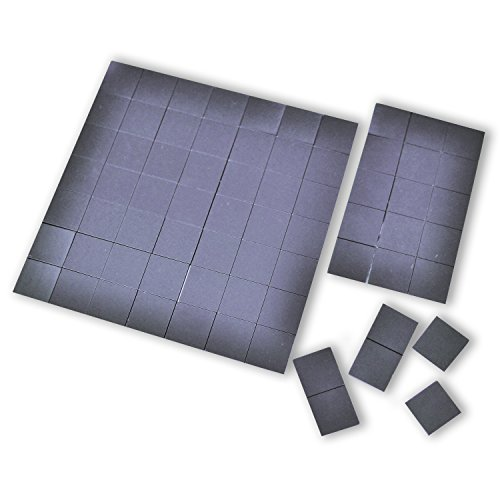 Magnefic! Magnetic Squares, 1 tape sheet of 70 magnetic squares (each 20x20x2mm), magnet on one side, self adhesive on the other side. Perfect for fridge organisation, DIY art project, vision board (Picture Hanging Magnets compare prices)