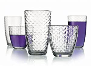 Set of 16 Metro Design Durable Drinking Glasses ~ Includes 8 Highball Glasses and 8 DOF... by GF Goods
