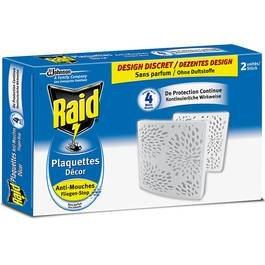 Raid p04275744 plaquette anti mouche d cor sans parfum for Anti mouches maison