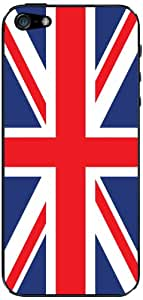 Cellet UK Flag Skin for iPhone 5 - Retail Packaging - Blue/Red