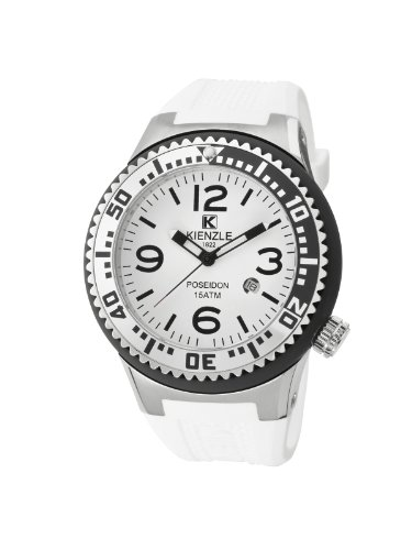 Kienzle K2043152263-00273 - Reloj analógico de cuarzo unisex con correa de silicona, color blanco