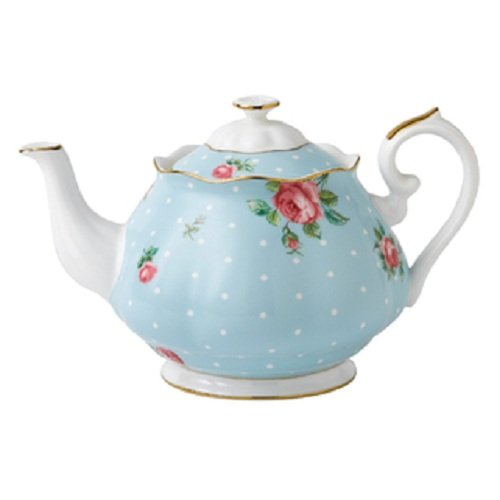 Royal Albert Polka Blue Vintage Teapot 1.25L 0