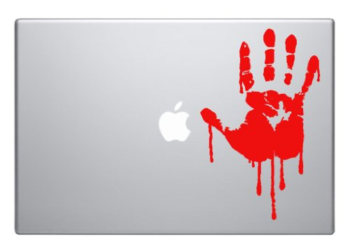 Bloody hand Blood horror scary cool - easy to apply wall vinyl sticker fun and cool for home improvement and decorations can also be used on Laptops macbooks, cars and windows makes a great birthday present and halloween by NumbTs