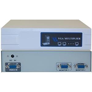 VGA Video Splitter 1 PC to 4 Monitors, 400MHZ