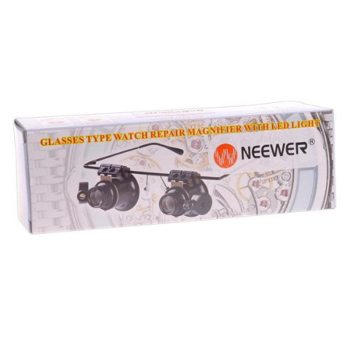 Binoculus Magnifier Eyewear Style 20X Magnifier with LED Light