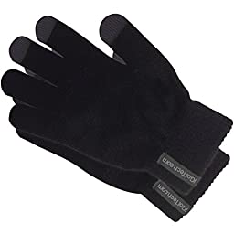 iGotTech Texting Gloves for Smartphones and Touchscreens, Black With Gray Details
