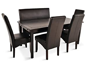 sam tischgruppe denver 6 teilig in braun kolonial. Black Bedroom Furniture Sets. Home Design Ideas
