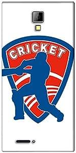 Snoogg Cricket Logo Designer Protective Back Case Cover For Micromax Canvas Express A99
