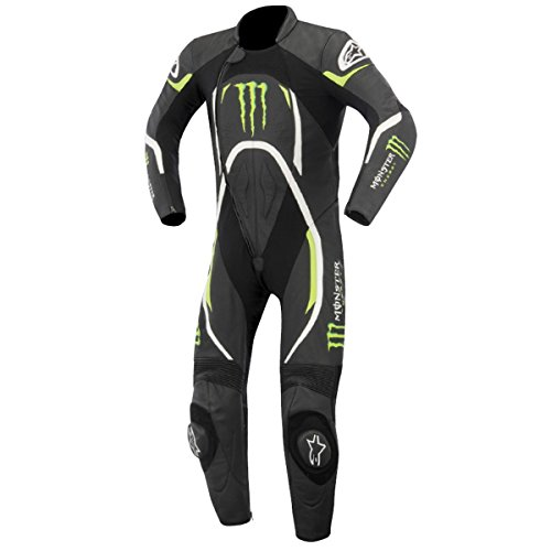 Alpinestars Xelos Monster Energy Leather Race Racing Motorcycle Motorbike Suit (EURO 50 UK 40)