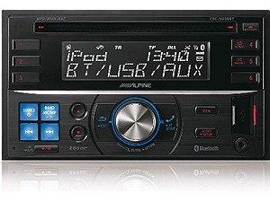 Alpine Cde-w235bt Doppel Din Cd-receiver Mit Groem Display Inkl Immer Sichtbarer Uhr Iphoneipod Kompatibel von Alpine