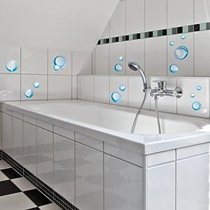 Pegatinas para la pared Wandkings «Pompas de jabón» - Juego de adhesivos de 32 unidades en 2 hojas DIN A4 en BebeHogar.com