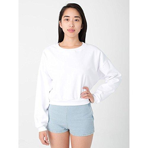american-apparel-sweatshirt-raccourci-femme-taille-unique-blanc