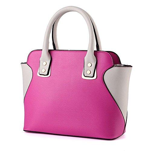 koson-man-damen-sling-vintage-tote-taschen-top-griff-handtasche-pink-rosarot-kmukhb334