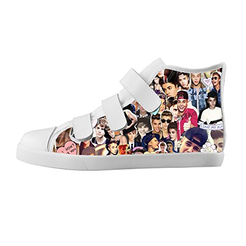 TD^^MM Custom Star Justin Bieber Boy's High-top Canvas Shoes Footwear Sneakers Flat Shoes (Justin Bieber Shoes For Boys compare prices)