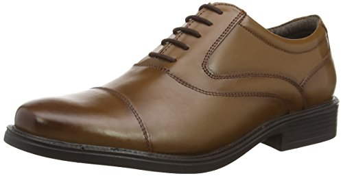 Hush Puppies Rockford_Ct, Scarpe stringate uomo, Marrone (Brown (Tan Leather)), 42