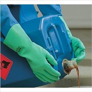 485429 Mapa Professional Size 9 Stansolv Af-15 Nitrile Glove Flock Lined