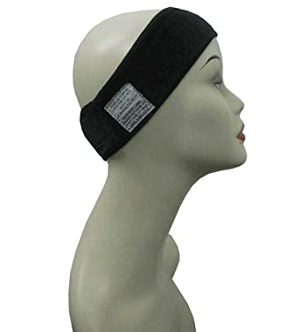 Black Wig and Scarf Grip Comfort Band