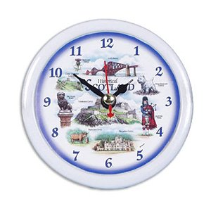 "Scottish Desk Clock - ""Historical Scotland"""