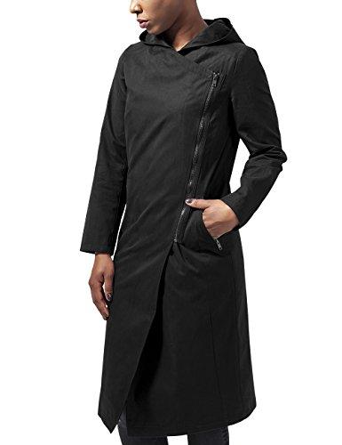 Urban Classics Ladies Peached Long Asymmetric Coat, Giubbotto Donna, Nero (Black 7), 46