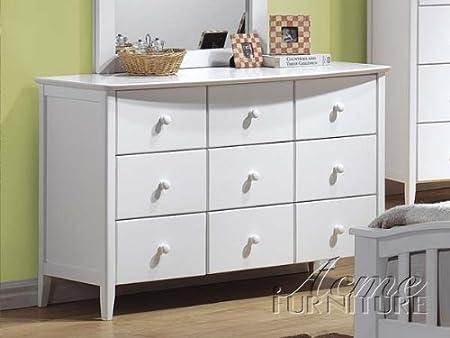 Beautiful White Finish Dresser Acs 009159
