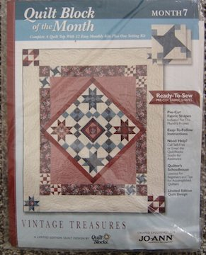 Quilt Block of the Month, Vintage Treasures, Month 7, Water Wheel, By Quilt Blocks