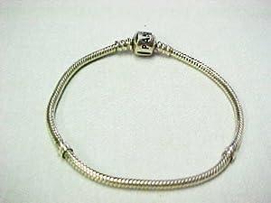 Pandora Sterling Silver Charm Bracelet with Barrel Clasp