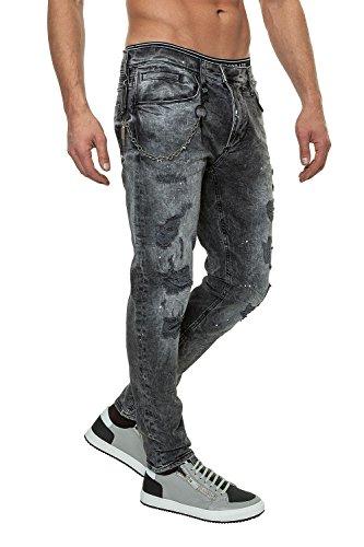 Antony Morato Jeans da uomo Pantaloni Denim Grigio (9000) W32