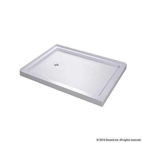 Discover Bargain DreamLine SlimLine 36 in. x 48 in. Double Threshold Shower Base, Left Hand Drain, D...