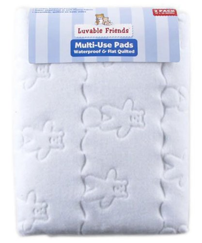 Buy Discount Luvable Friends 2-Pack Waterproof & Flat Quilted Multi-Use Pads