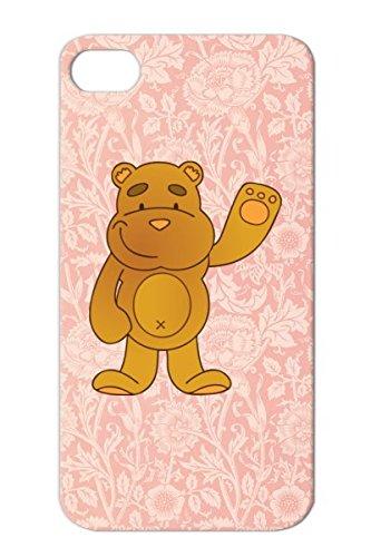 Tear-Resistant Teddy Bear Cartoon Child Funny Teddy Bears Figure Baby Blanket Plush Animal Bear Orange For Iphone 4S Protective Hard Case front-312248