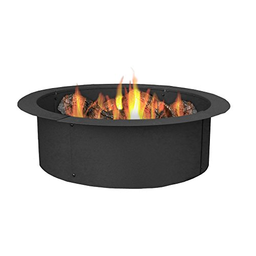 Sunnydaze Fire Pit Rim, Make Your Own in-Ground Fire Pit, 27 Inch Diameter (Fire Pit Ring compare prices)
