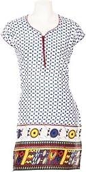 D-Nimes Women Cotton Half Sleeve Printed kurti