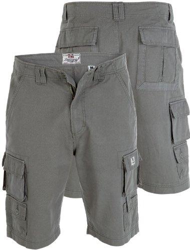Duke Kingsize Big Mens Cargo Shorts, Multi Pocket (Khaki 1XL-6XL)