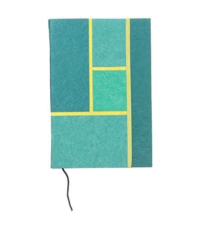 Marina Vaptzarov Daphne Paper Hardcover Notebook, Turquoise