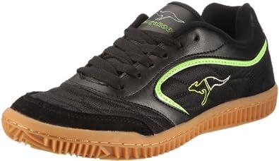 KangaROOS Kennis, Herren Sneakers, Schwarz (blk/lime/silvergrey 581), 41 EU