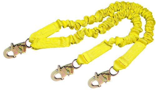 DBI/Sala Shockwave 2, 1244406 6-Foot Shock Abosorbing Lanyard, Tubular Web, 100% Tie Off W/Self Locking Snap Hooks At Each End, Yellow