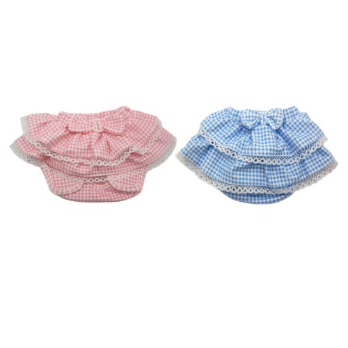 Alfie Pet Apparel By Petoga Couture - Ami Diaper Dog Sanitary Pantie 2-Piece Set - Colors: Blue And Pink, Size: Medium (For Girl Dogs) front-423973