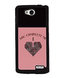 Fuson 2D Printed Love Designer back case cover for LG L90 - D4299