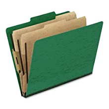 Pendaflex 1257GR Pendaflex Pressguard Classification Folders, Letter, 6-Section, Green, 10/Box