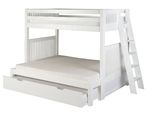 Camaflexi Mission Style Solid Wood Bunk Bed With Trundle