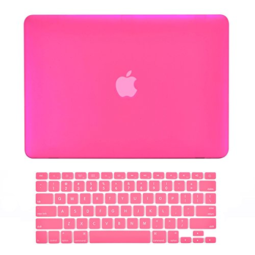 Top Case Rubberized Hard Case Cover for 13.3-Inch Apple MacBook Pro with Retina Display A1425/A1502 Bundle with Keyboard Cover and Mouse Pad - Hot Pink (Pink Package compare prices)
