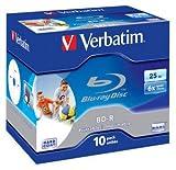 Verbatim BD-R SL 25GB 6x Printable 10pk: 43713 (43713)