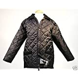 Campbell Cooper New Mens quilted newmarket country wear jacket Black