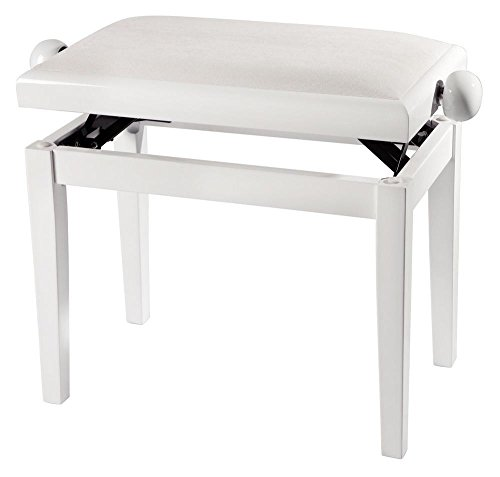 Gewa 130090 Deluxe Piano Bench Highgloss Cherry with Beige Seat Cushion
