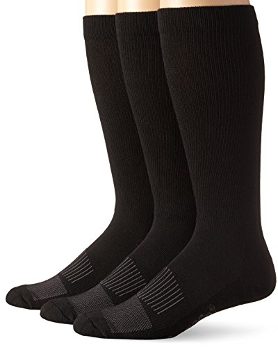 Wrangler Men's Western Boot Socks, Black, Large(Pack of 3)